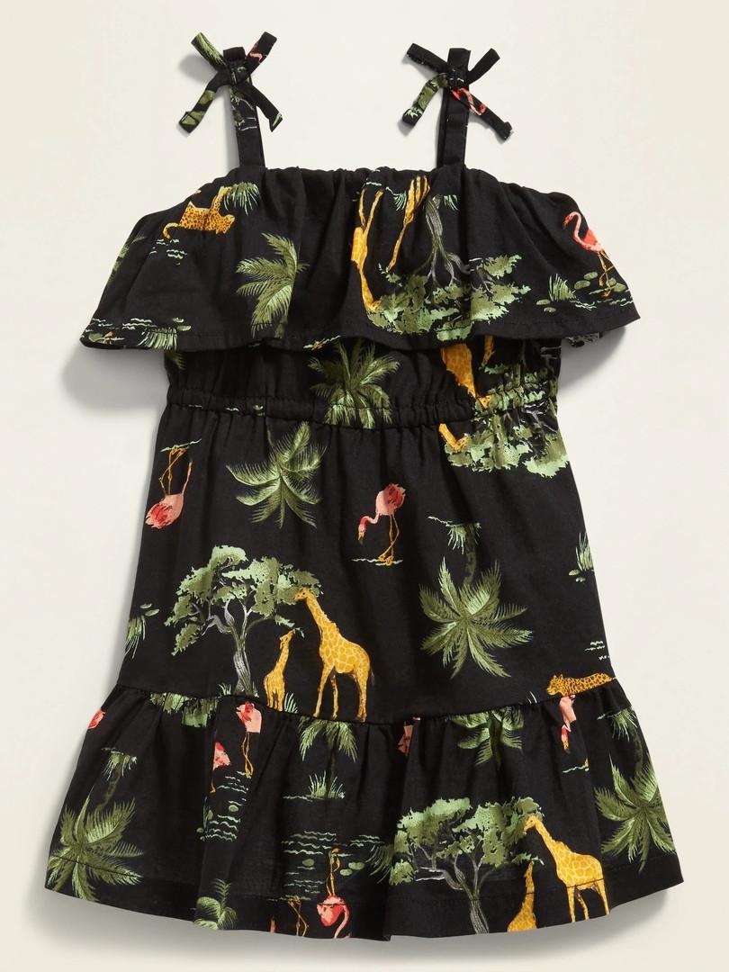 Детские легкое платье с рюшей Олд Неви для девочки