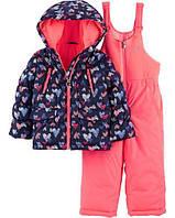 Детский зимний костюм куртка и полукомбинезон Картерс для девочки