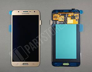Дисплей Samsung j700 Gold j7 2015 (GH97-17670B) сервисный оригинал, фото 2