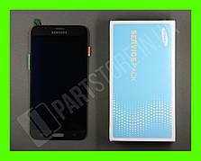 Дисплей Samsung j700 Black j7 2015 (GH97-17670C) сервисный оригинал
