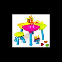 Столик для песка (с ведром и пасками, стульчиком)(КВ 01-121)