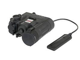 Celownik laserowy z latarką LED - Czarny [Element]