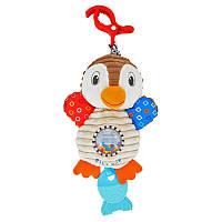 Погремушка плюшевая baby mix , пингвин 8248  игрушка  на коляску