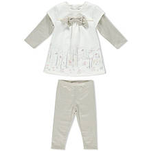 Детский комплет для девочки Нарядная одежда для девочек Одежда для девочек 0-2 BRUMS Италия 163BEEM004