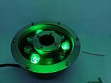 Підводний прожектор світлодіодний RGB DC12v 9 Вт IP68 з пультом для фонтану і басейну, фото 7