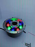 Підводний прожектор світлодіодний RGB DC12v 9 Вт IP68 з пультом для фонтану і басейну, фото 9