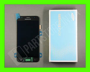 Дисплей Samsung j500 Black j5 2015 (GH97-17667B) сервисный оригинал, фото 2
