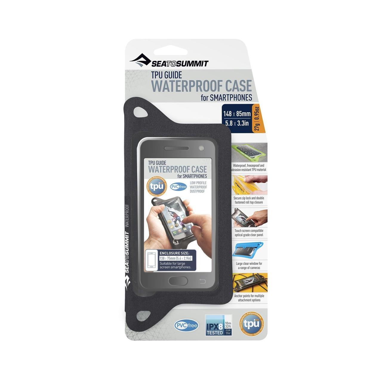 Гермочехол для телефона Sea To Summit - TPU Guide W/P Case for Smartphones Black, 13 х 7 см (STS ACTPUSMARTPHBK)(Размер 13 х 7 см)