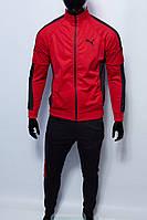 Костюм спортивный мужской PM 8997-601 красный с черным реплика