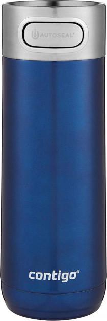 """Термокружка для напитков """"Luxe Autoseal Insulated Travel Mug"""" 7х21см/470мл из нержавеющей стали Contigo"""