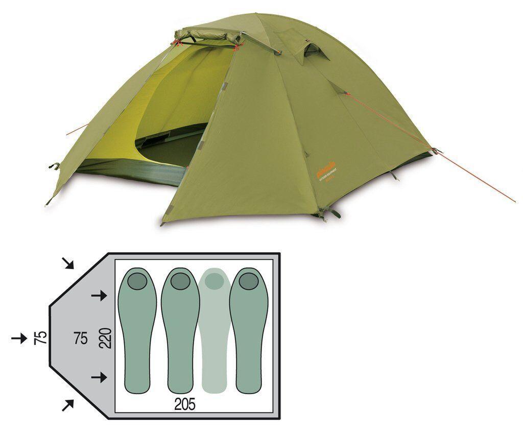 Палатка трехместная Pinguin - Bora 3 Green, 3-местная (PNG 121.3)
