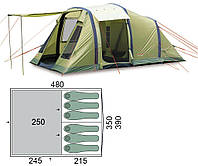 Палатка шестиместная Pinguin - Interval 6 Airtube Green, 6-местная (PNG 143.6A.Green)