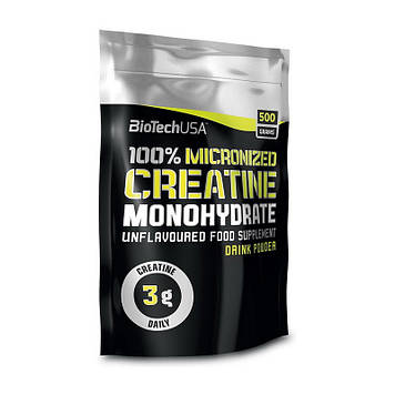 Creatine Monohydrate (пакет) (500 g, unflavored) 100% BioTech
