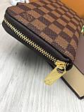 Трендовый женский кошелек на молнии Louis Vuitton коричневый Премиум Качество клатч Красивый Луи Виттон копия, фото 9
