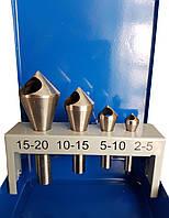 Зенкеры конические с 90° поперечным отверстием быстрорежущая сталь HSS набор 4 штуки ECEF 81510