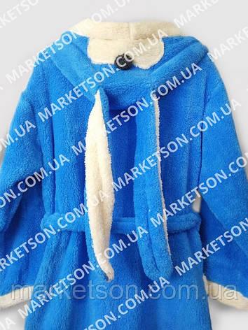 Детский махровый халат с ушками Зайка для детей от 7 до 9 лет, фото 2