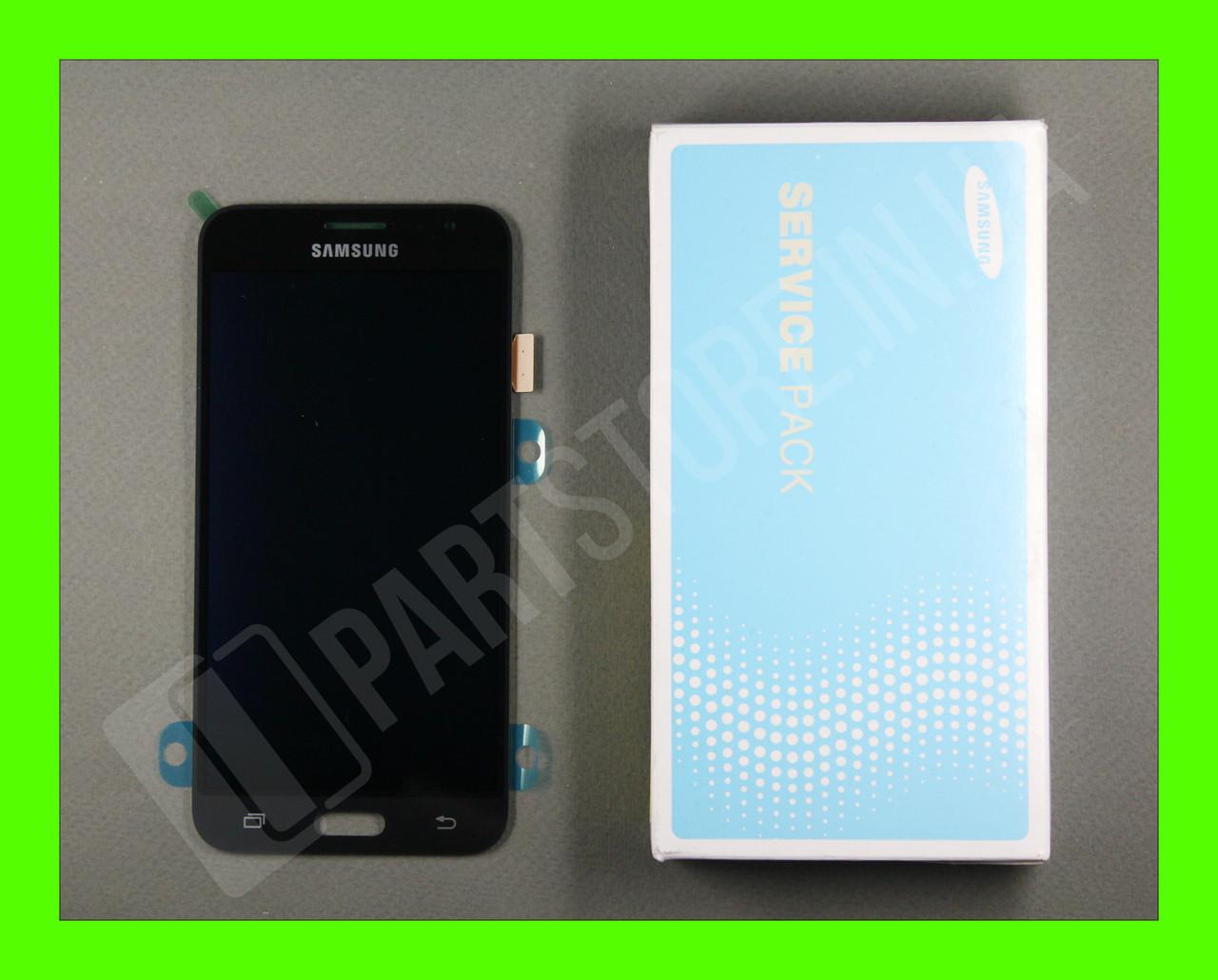 Дисплей Samsung j320 Black j3 2016 (GH97-18414C) сервисный оригинал