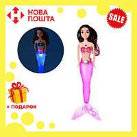 Кукла для девочек A 009-7 Русалка с темно-розовым светящимся хвостом | русалочка | светящаяся куколка