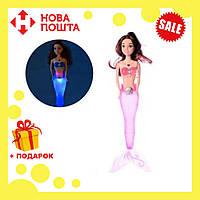 Кукла для девочек A 009-7 Русалка со светло-розовым светящимся хвостом | русалочка | светящаяся куколка