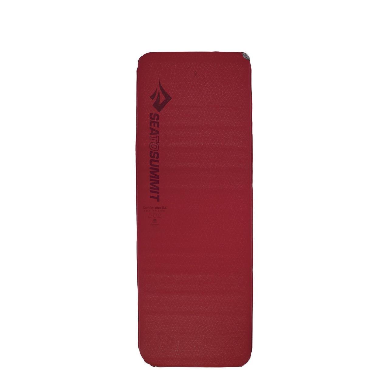 Самонадувной коврик Sea To Summit - Self Inflating Comfort Plus Rectangular Red, 183 см х 64 см х 8 см (STS AMSICPRRW)(Длина 183 см)