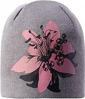 Зимняя шапка-бини для девочки Lassie by Reima Elliya 728763-9321. Размеры 46/48, 50/52 и 54/56., фото 1