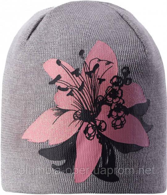 Зимняя шапка-бини для девочки Lassie by Reima Elliya 728763-9321. Размеры 46/48, 50/52 и 54/56.