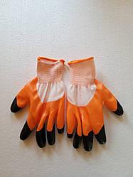 Купити рукавички ХБ з точкою, рукавички стрейч дачні, рукавички бензостойкие, будівельні рукавиці