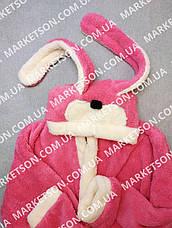 Детский махровый халат с ушками Зайчик для подростков, фото 3