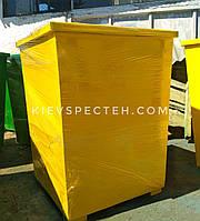 Бак для раздельного сбора мусора, 0,75 м3, металл 2 мм.