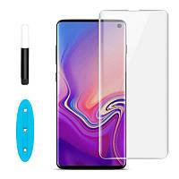 Защитное стекло для Samsung Galaxy S10 Plus 2019 G975 с ультрафиолетовым клеем (полная проклейка) 5D