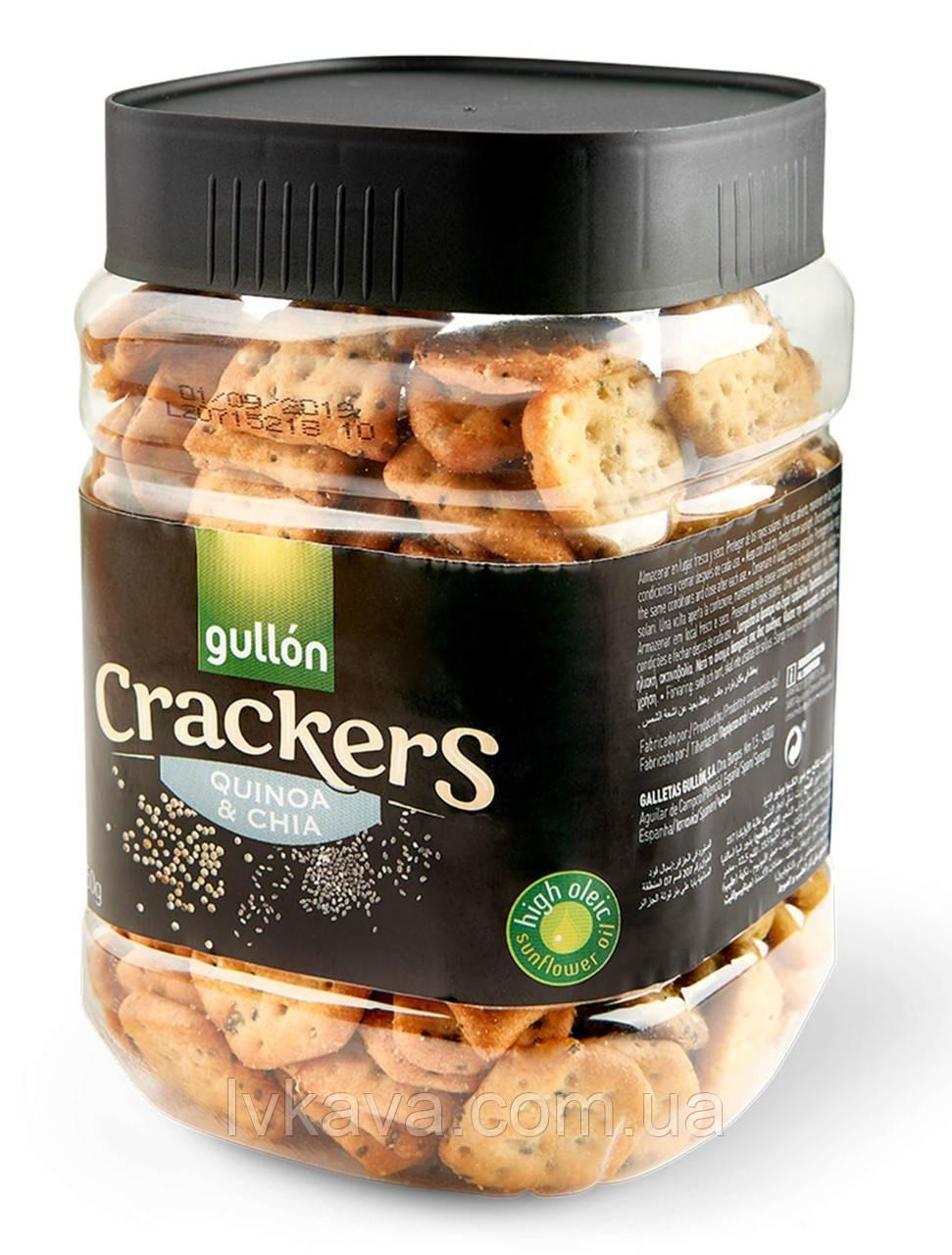 Крекер  Gullon Crackers quinoa & chia, 250 гр