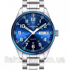 Мужские наручные часы Carnival Millenium с тритиевой подсветкой, фото 2