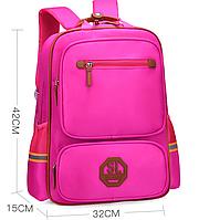 Ранец школьный розовый черный. Рюкзак детский ткань Оксфорд SL 279В