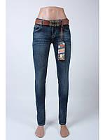 Джинсы женские с ремнем/джинсы стрейчевые/джинсы узкие/ Moon Girl 6955