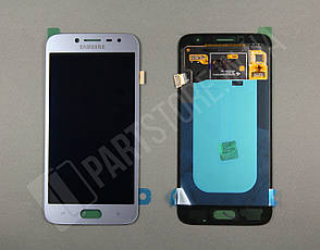 Дисплей Samsung j250 silver j2 2018 (GH97-21339B) сервисный оригинал, фото 2