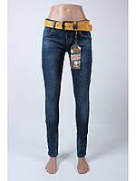 Джинсы женские с ремнем/джинсы стрейчевые/джинсы узкие/ Moon Girl 6958