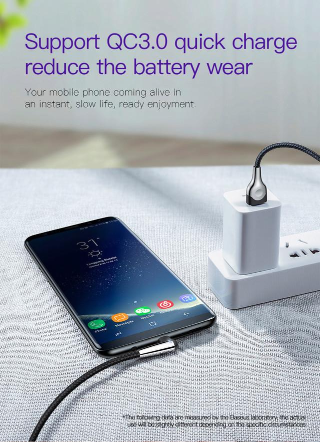 Кабель USB Type-C Baseus MVP Mobile game с угловым коннектором для для зарядки и передачи данных CATMVP-D03 (Синий, 1м)