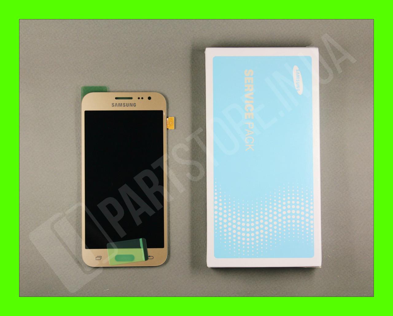 Дисплей Samsung j200 gold j2 2015 (GH97-17940B) сервисный оригинал
