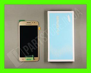 Дисплей Samsung j200 gold j2 2015 (GH97-17940B) сервисный оригинал, фото 2