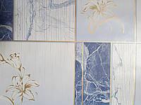 Обои влагостойкие мойка Малахит 6557-03 синий мрамор, фото 1
