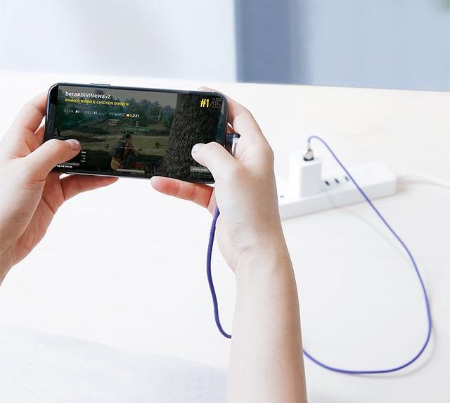 Кабель USB Type-C Baseus MVP Mobile game с угловым коннектором для для зарядки и передачи данных CATMVP-D03 (Фиолетовый, 1м)