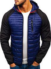 Демисезонная спортивная куртка мужская  со съемным капюшоном Польша, фото 3