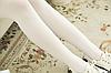 Колготки имитация чулок женские белые 086, фото 6