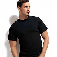 Черная мужская футболка хлопок