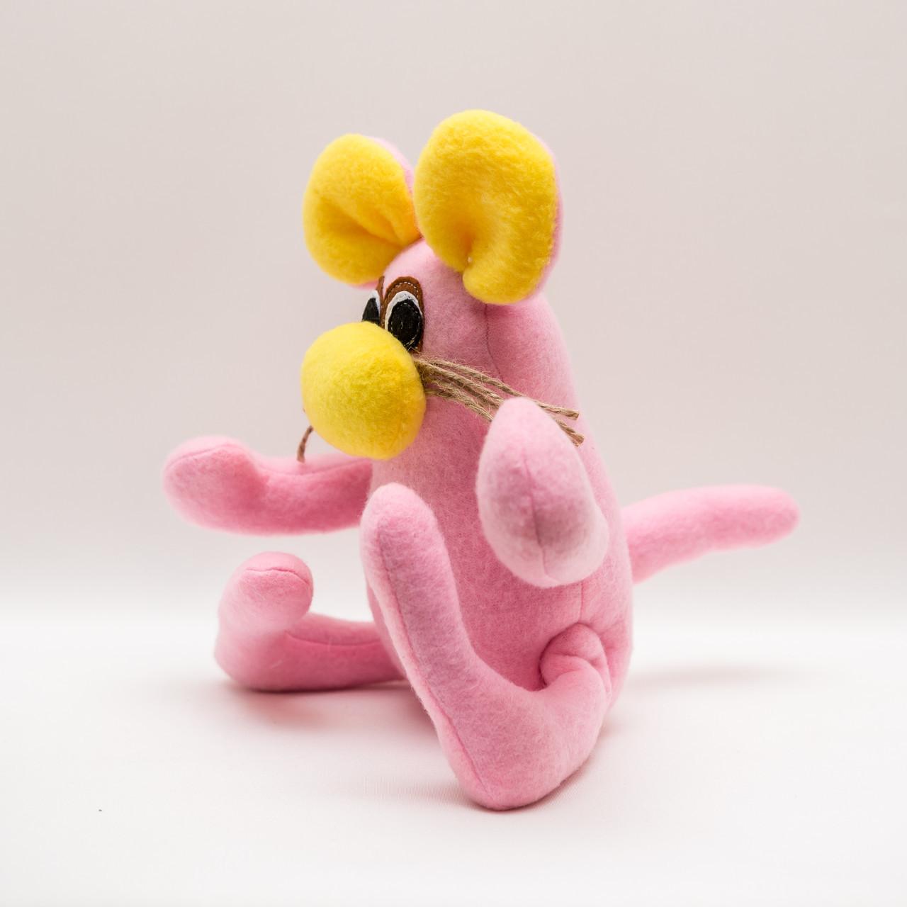 Мышь игрушка Vikamade веселая розовая