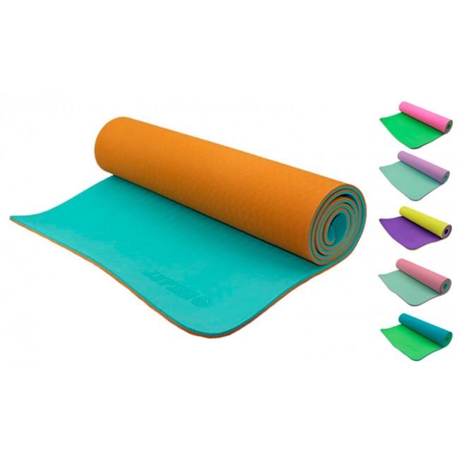 Yoga mat TPE+TC 6 мм двухслойный