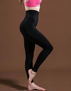 Женские спортивные лосины черные 4091