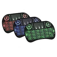 Мини беспроводная клавиатура с тачпадом и подсветкой | Міні бездротова клавіатура з тачпадо MWK08/I8 LED TOUCH, фото 1