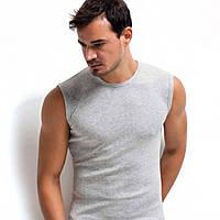Серая мужская футболка без рукавов