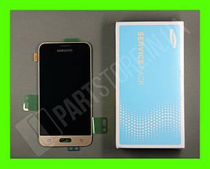Дисплей Samsung j120 Gold j1 2016 (GH97-18224B) сервисный оригинал, фото 2